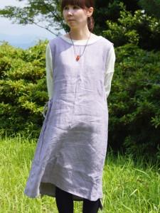 指定外繊維ヘンプ100%チュニックドレス