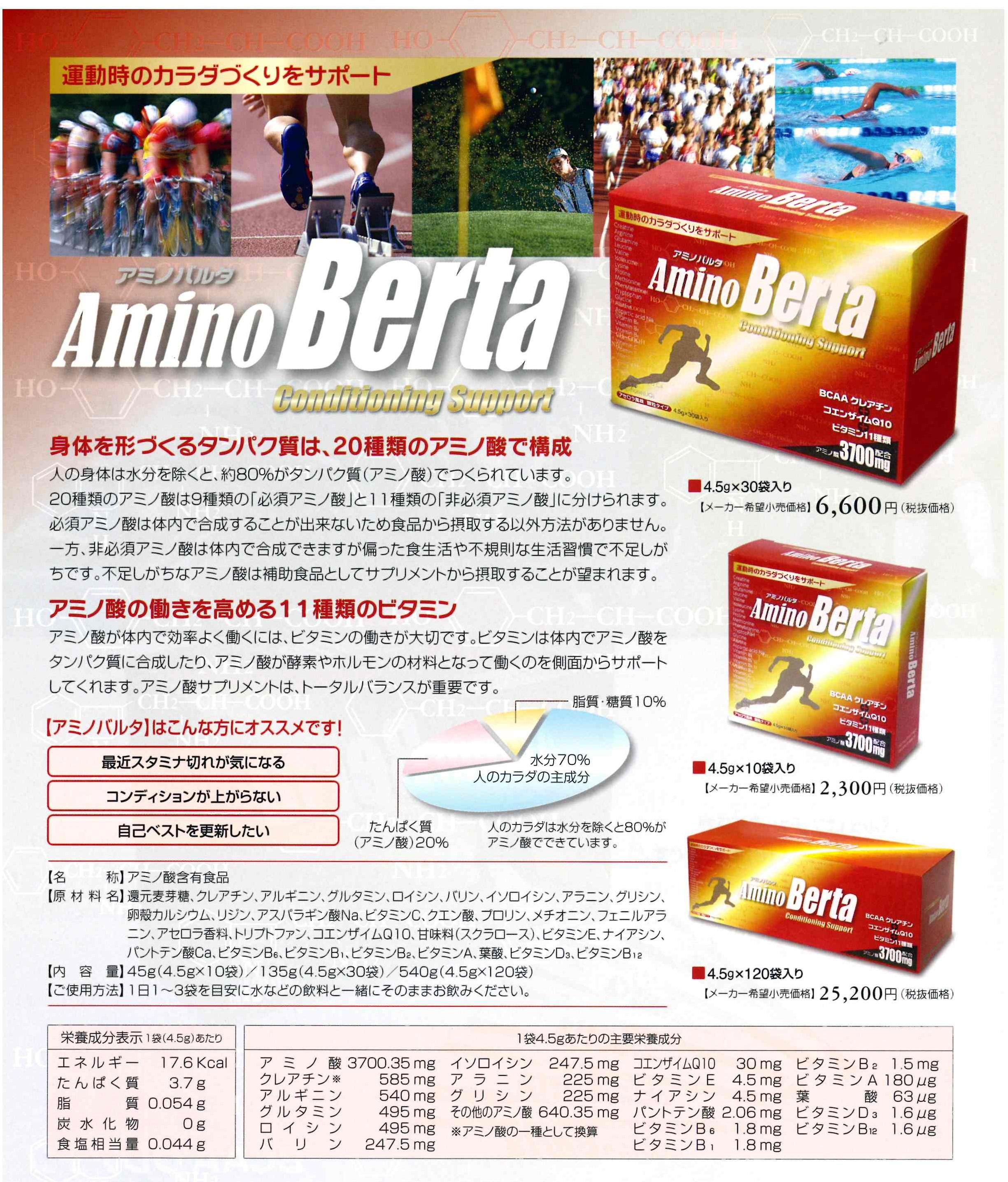 アミノ酸サプリが運動や筋肉に働きかけるアミノバルタ